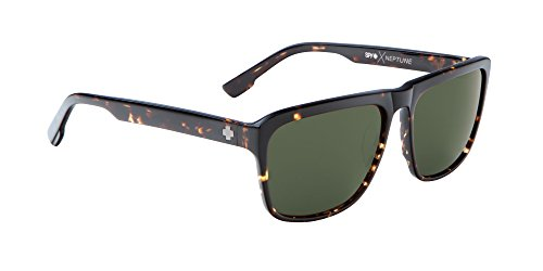 Spy Optic Unisex Neptune Happy Lens Collection Sunglasses, Dark Tort/Grey Green, One Size Fits All