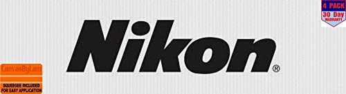 nikon black 4 Stickers 4x4 Inches Car Bumper Window Sticker Decal canvasbylam