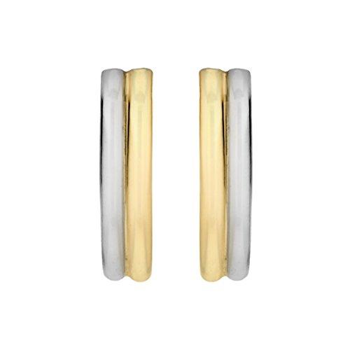Carissima Gold - Boucles d'oreilles créoles - (375) - Or bi colore - Femme