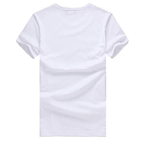 Eolgo Mens T-Shirt, Plus Size Thinking Creative Print Blouse, Fashion Summer Sport Casual Tops White by Eolgo (Image #3)