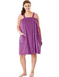 f59d2e02bfb94 Women s Plus Size Terry Towel Wrap - Radiant Orchid
