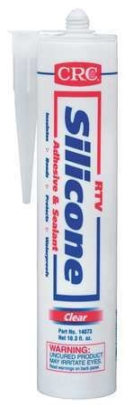 CRC 14073 Rtv Silicone Sealant Clear 12 Oz. (Price is for 12 Cartridge/Case)