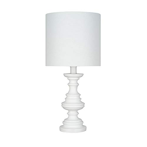 Ravenna Home Faux Wood Table Lamp, Bulb Included, 18