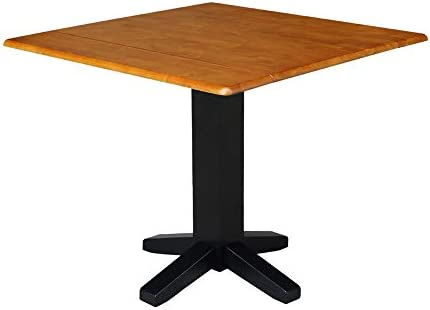 International Concepts Square Dual Drop Leaf Dining Table
