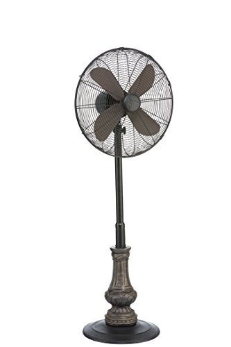metal pedestal fan decobreeze picard metal and polyresin adjustable height 4097