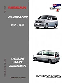 nissan elgrand e51 vq35de 2002 2010 workshop manual amazon co uk rh amazon co uk nissan elgrand workshop manual in english nissan elgrand owners manual free download