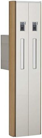 四国化成 ファミーユ門柱1型 2世帯用 本体 宅配ボックス無 インターホン取付用 『インターホンは別途』 FMP1-AW16N ステンカラー+ライトブラウン(LB)
