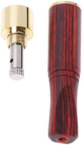 qiuxiaoaa Rauchrohr Bit Gerade Filter Holzpolitur Rauch 6Mm, 8Mm Zigarettenspitze Trockenrohr und Zubehör Rot