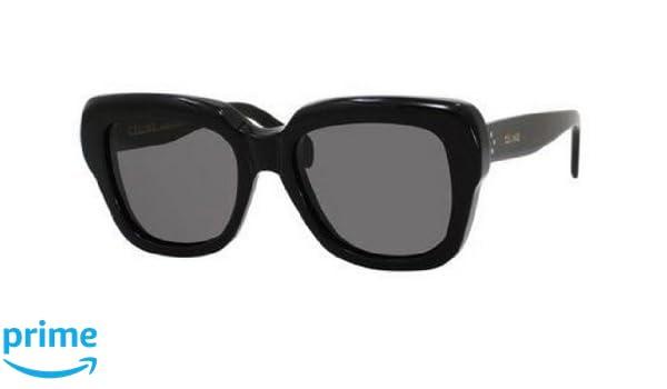 805f1c1c08c Amazon.com  Celine 41022 S Sunglasses-0807 Black (BN Dark Gray Lens)-54mm   Clothing