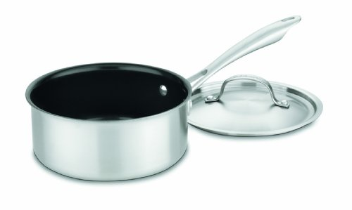 Cuisinart GGT19-18 GreenGourmet Tri-Ply Stainless 2-Quart Saucepan with Cover
