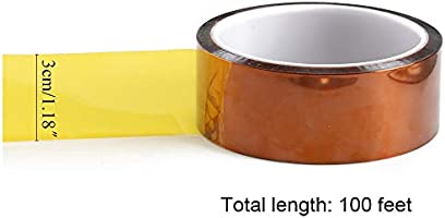 NACTECH Cinta de Poliamida de Alta Temperatura Cinta Kapton 30mm x ...