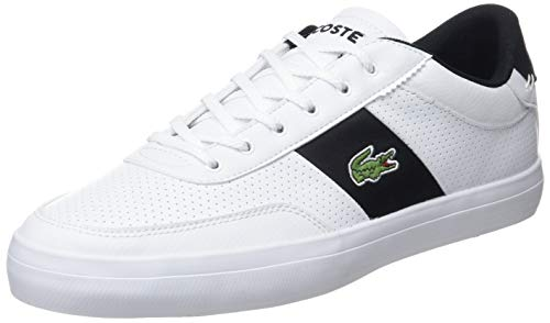 Lacoste Men's Court-Master 119 2 Leather Trainers, White, 10 US