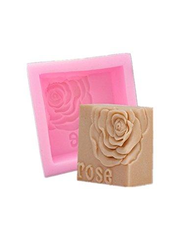 Efivs Arts Silicone Soap Molds DIY Rose Handmade Baking Cake Mold Ice Cube Tray Tools,2.95