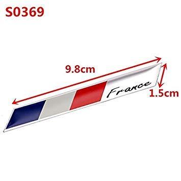 Sellify Car Styling 3D Francia Bandera Insignia del Emblema del Coche de la Etiqueta engomada Auto