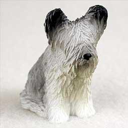 (Skye Terrier Miniature Dog Figurine)
