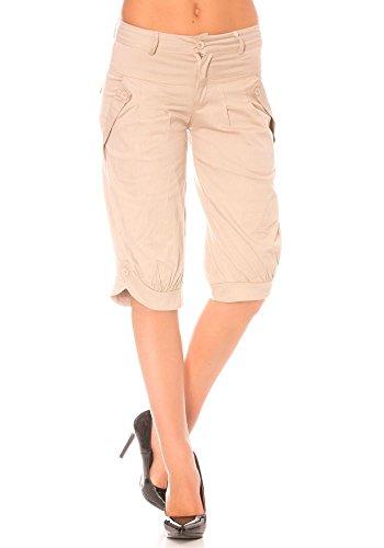 dmarkevous - Pantacourt Beige femme à poches très fashion - XL, beige