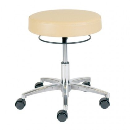 Pneumatic Lift Stools - No Backrest, 5-Leg With Locking Casters
