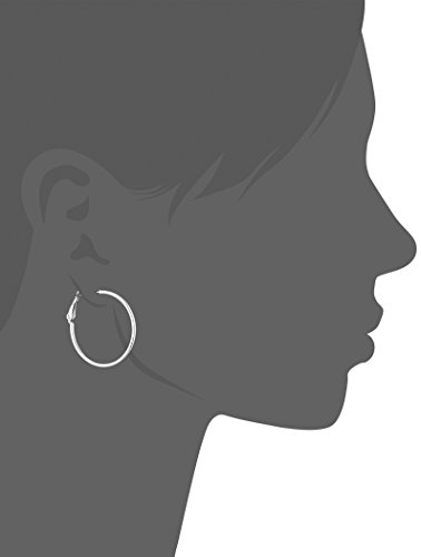 Sterling Silver Lightweight Paddle Back Hoop Earrings