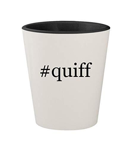#quiff - Ceramic Hashtag White Outer & Black Inner 1.5oz Shot Glass