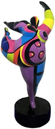 Style Nanas Niki de Saint Phalle Laure Terrier Statue de Femme Danseuse pour Collection ou d/écoration Hauteur 26 centim/ètres