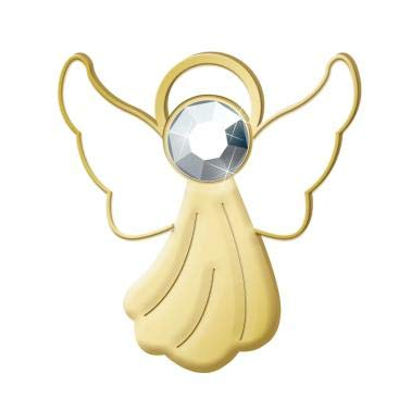 Gold Angel Lapel Pin - Crown Awards Shiny Gold Angel Pin - Guardian Angel Lapel Pins 5 Pack Prime with Embedded Gem