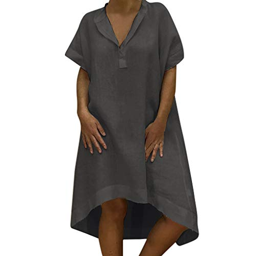 Dress Casual Plain Simple T-Shirt Loose Dress Summer Style T-Shirt Casual Plus Size Ladies Dress Women's -