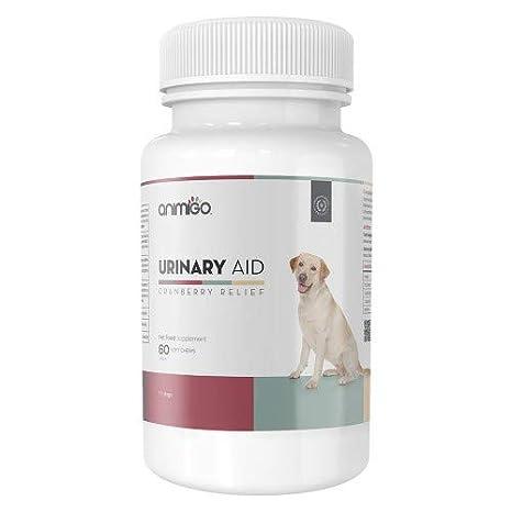 Animigo Ayuda Urinaria para Perros. 60 Comprimidos Masticables de Arándanos: Amazon.es: Productos para mascotas