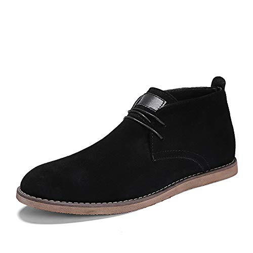 Chukka Boot Casual Lace Up Dress Shoes Ankle British Style Formal Shoes (Color : Black, Size : 6.5 D(M) US) ()