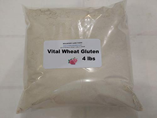 (Vital Wheat Gluten, 4 Pounds 75% Protein, All Natural, Non-GMO, Bulk)