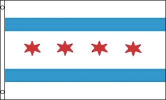 3x5 Chicago City Flag Lot of 2 Flags Super Polyester Nylon F