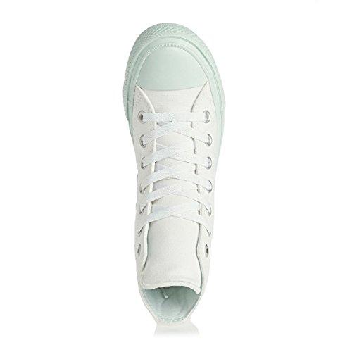 Unisex White Alto Adulto Collo Blue a Star II All Sneaker Converse zq0f4f