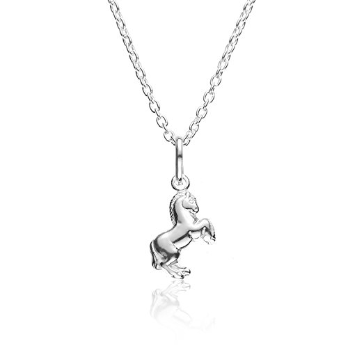 Sterling Silver Rearing Pendant Necklace product image