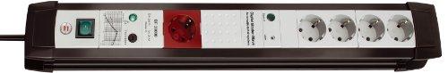 Brennenstuhl Premium-Line Überspannungsschutz-Automatiksteckdosenleiste 5-fach schwarz/grau mit Schalter, 1156050955
