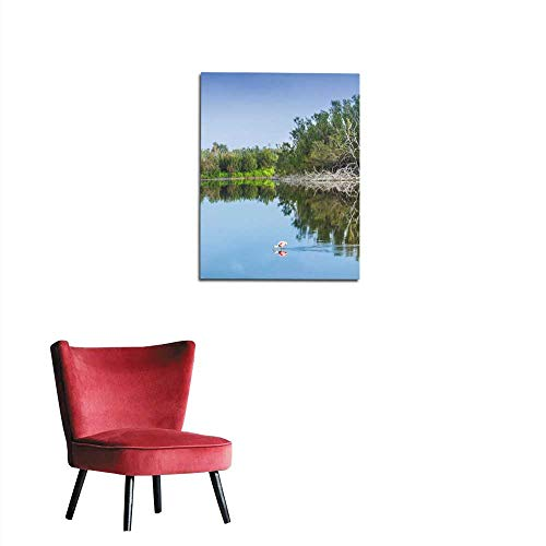 - longbuyer Wall Paper Flamingo Bird in Everglades National Park Mural 20