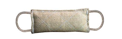 Cotton Tug Ring - Organic Dye-Free K9 Jute Bite Tug Toy 2 Handles for Small Dogs