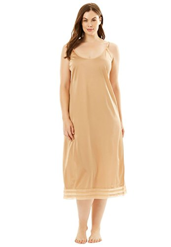 Comfort Choice Women's Plus Size Snip-to-Fit Dress Slip - Nude, 1X