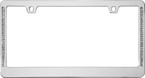 Cruiser Accessories 15530 Neo Diamondesque License Plate Frame, Chrome