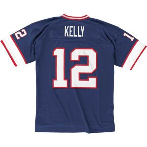 Jim Kelly Buffalo Bills Mitchell & Ness Throwback Premier Jersey - Blue (3XL)