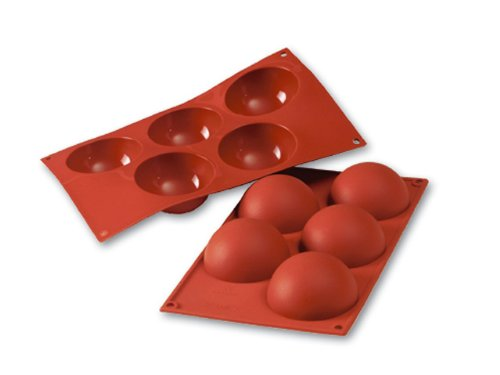 Silikomart Siliconflex Half-Sphere Mold, 4 Oz, 3.15