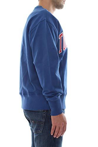 Bluette Tommy Sweat Bleu Collegiate Jeans Dm0dm06319 Homme shirt Clean wZTHga