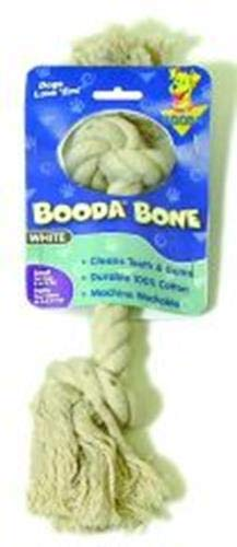 Booda 2Knot Rope Bone, White, - Rope Puppy