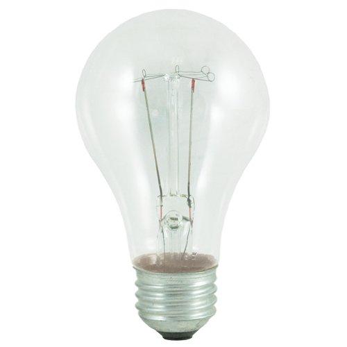 Bulbrite 60A/CL 60-Watt 130-Volt Long Life Standard Incandescent A19 2-Pack, Clear