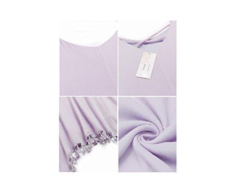 Acevog L'ourlet Asymétrique Sans Manches Houppe Femmes Balancer Robes De Plage Lâche Occasionnels Violet