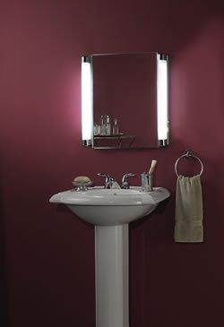 Jensen 455FL Lighted Medicine Cabinet, Stainless Steel, 20-Inch by 22-Inch by Jensen