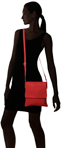 Girly Handbags - Bolso cruzados de Material Sintético para mujer Rojo - rojo