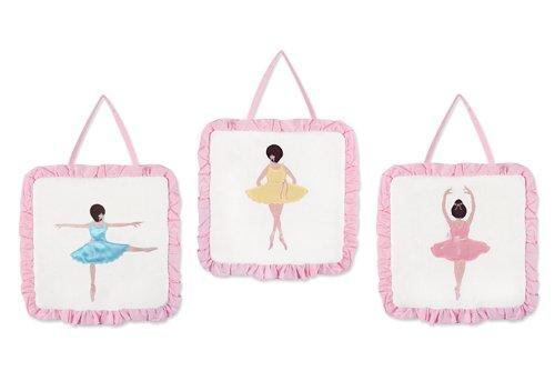 Sweet Jojo Designs Ballet Dancer Ballerina Wall Hanging Accessories (Hanging Jojo Wall Designs)