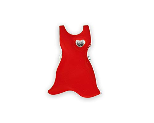 Red Heart Awareness Large Red Dress Pin In a Gift Box (1 Pin - RETAIL)