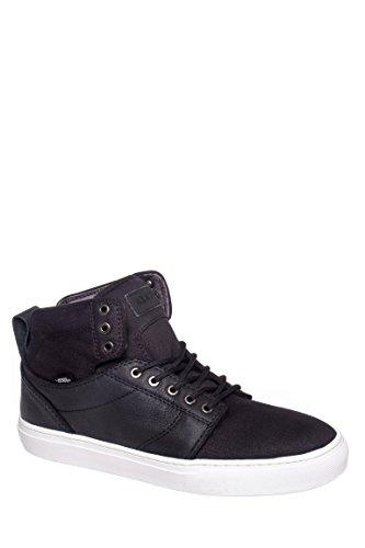 Vans Men Alomar Leather Hi Sneaker Skate Boot Shoes (8, Black/Star - Star Leather Sneaker Hi