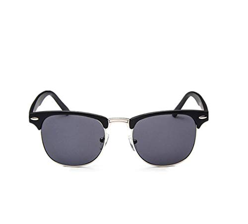 Classic Half Metal Sunglasses Women Men Brand Designer Vintage Rivet Sun Glasses Fashion ()