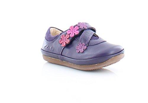 Clarks Kids Purple Leather Elza Step Fst Prewalker 6.0 Medium US - Medium Purple Leather Footwear